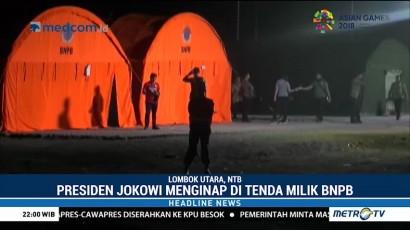 Usai Meninjau Korban Gempa, Jokowi Beristirahat di Tenda Milik BNPB
