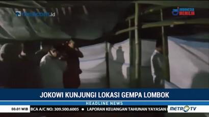 Jokowi Jadi Imam Salat Magrib di Tenda Pengungsian