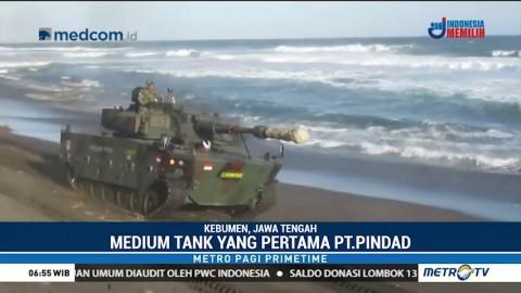 Medium Tank Pindad Diuji Coba