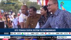 Menteri Rini Resmikan BTS Tenaga Surya di Pulau Rote