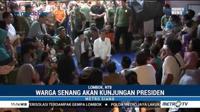 Pengungsi Korban Gempa Lombok Senang Dikunjungi Jokowi