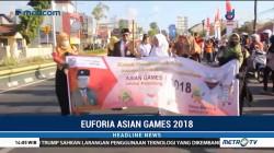 Warga Bantul Gelar Pawai Obor Miniatur Asian Games