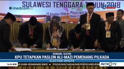 KPU Tetapkan Ali Mazi - Lukman Pemenang Pilkada Sultra