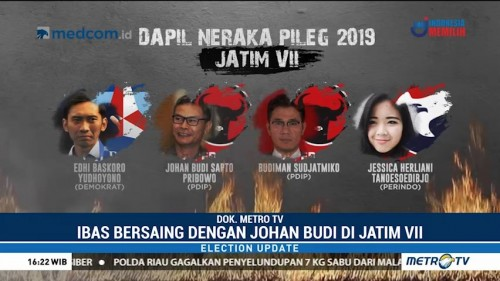 Ibas, Johan Budi & Budiman Sudjatmiko Berebut Kursi Jatim VII