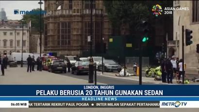 Polisi Inggris Selidiki Penabrakan di Depan Gedung Parlemen