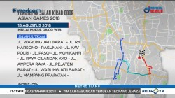 Kirab Obor Asian Games di Jakarta, Ruas Jalan Ini Ditutup