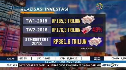 Laju Investasi Melambat di Kuartal II-2018