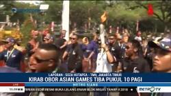 Mantan Atlet Bawa Obor Asian Games di Jakarta