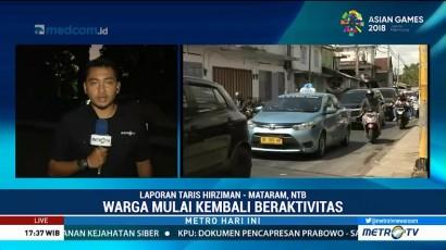 Warga Lombok Mulai Kembali Beraktivitas