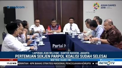 Para Sekjen Parpol Koalisi Jokowi-Ma'ruf Adakan Pertemuan