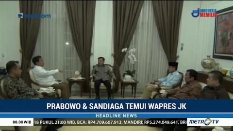 Prabowo-Sandi Minta Restu JK Maju di Pilpres 2019