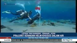 HUT ke-73 RI, TNI Kodim 0723 Gelar Upacara Bendera di Bawah Air