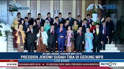 Presiden Jokowi Tiba di Gedung MPR