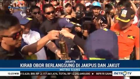 Obor Asian Games Dibawa Mengitari Jakarta Pusat dan Utara