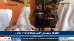 Hafal Teks Proklamasi, Gratis Makan di Kafe Ini