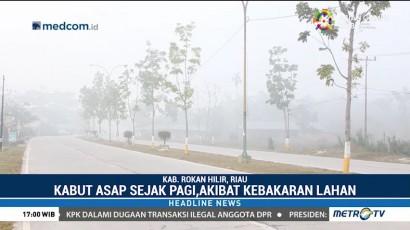 Kabut Asap Selimuti Rokan Hilir