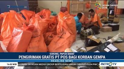Pengiriman Gratis PT Pos Sorong untuk Korban Gempa Dihentikan Sementara