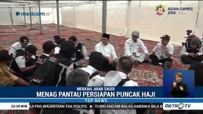Menag Pantau Persiapan Puncak Haji