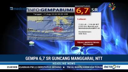 Gempa 6,7 SR Guncang Manggarai Barat