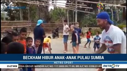 Kunjungi Sumba, David Beckham Hibur Anak-anak