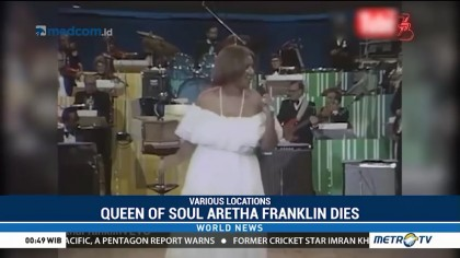 'Queen of Soul' Aretha Franklin Dies