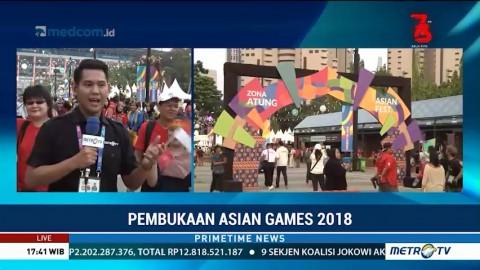 Suasana Jelang Pembukaan Asian Games 2018 di Jakarta dan