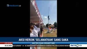 Aksi Heroik Selamatkan Sang Saka Merah Putih