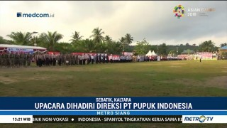 Pupuk Indonesia Rayakan HUT ke-73 RI di Perbatasan