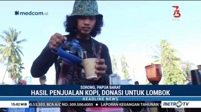 Aksi Secangkir Kopi untuk Lombok Digelar di Sorong