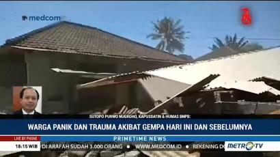 Tak Ada Korban Jiwa Akibat Gempa 6,5 SR di Lombok