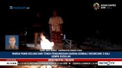 Lombok Gelap Gulita Pascagempa, Warga Buat Api Unggun