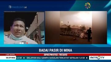 Tenda Jemaah Haji di Mina Roboh Dihantam Badai Pasir