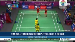 Tim Putri Bulu Tangkis Indonesia ke Perempat Final