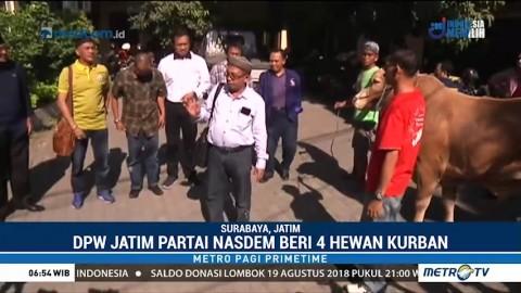 DPW NasDem Jatim Sumbang Empat Sapi untuk Kurban