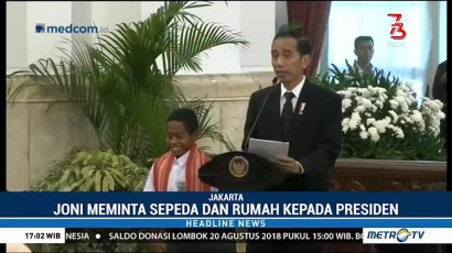 Jokowi akan Berikan Sepeda dan Rumah Buat Joni