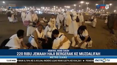 220 Ribu Jemaah Haji Indonesia Bergerak ke Muzdalifah