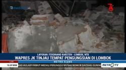 JK Tinjau Pengungsi Korban Gempa Lombok
