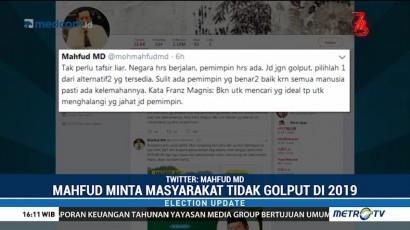 Mahfud MD Ajak Masyarakat untuk Tidak Golput