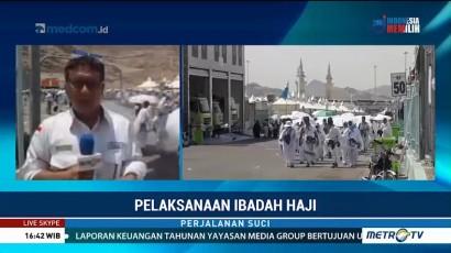 Jemaah Haji Indonesia Berdatangan ke Mina