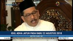 MUI Minta Umat Islam Terima Perbedaan Waktu Idul Adha