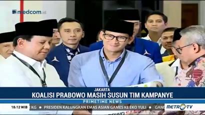 Koalisi Prabowo Masih Susun Tim Kampanye