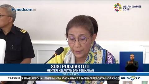 Menteri Susi Tenggelamkan 125 Kapal Pencuri Ikan