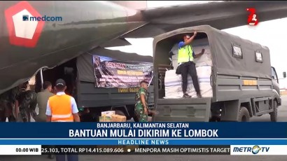 Bantuan Warga Kalsel Dikirim ke Lombok