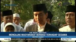 Jokowi Ajak Masyarakat Berbagi Terutama ke Korban Gempa Lombok