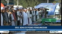 Korban Gempa Lombok Laksanakan Salat Id di Pengungsian