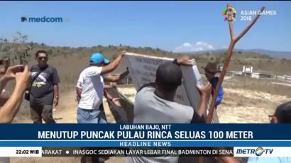 Pagar PT SKL di Pulau Rinca Dibongkar