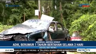 Kecelakaan Mobil, Balita Selamat Setelah Terperangkap Dua Hari
