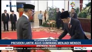 Jokowi Lantik Agus Gumiwang Jadi Menteri Sosial