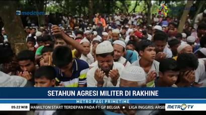 Rohingya Peringati Satu Tahun Agresi Militer di Rakhine
