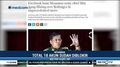 Akun Facebook Sejumlah Pejabat Myanmar Diblokir